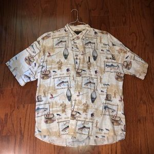Other - Men's casual short sleeve button down shirt